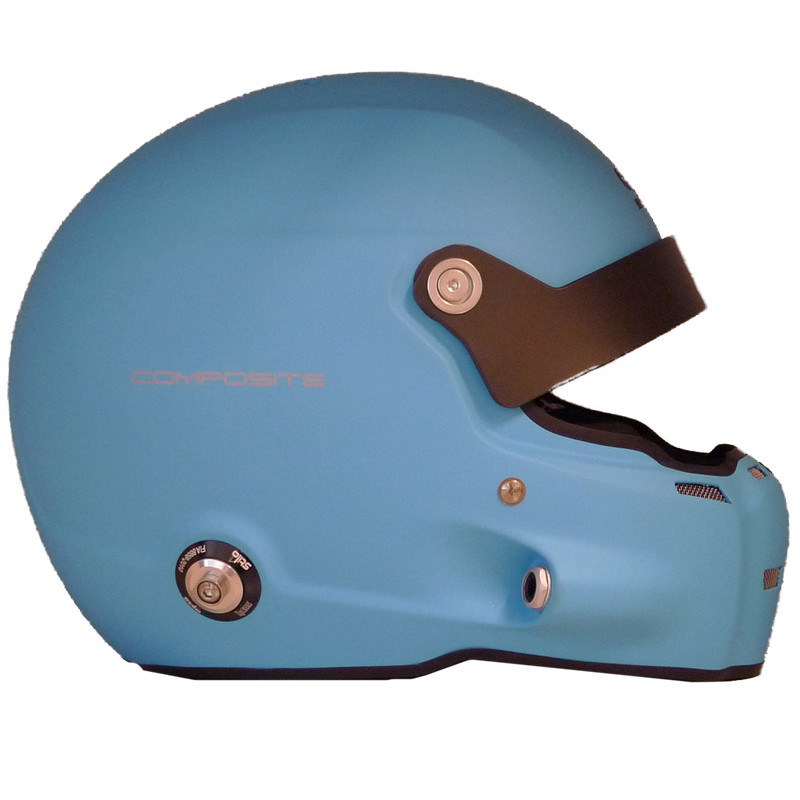 Casco Stilo ST5 R Fibra Hans + Intercom SA15 azul